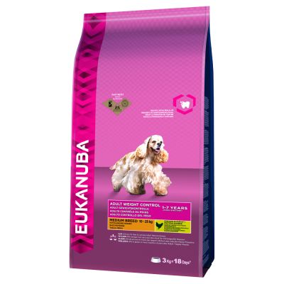 Eukanuba Adult Weight Control Medium Breed Kip Hondenvoer