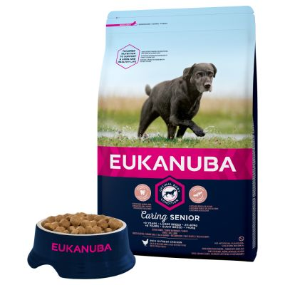 Eukanuba Caring Senior Large Breed poulet pour chien