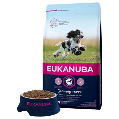 Eukanuba Growing Puppy Medium Breed - Chicken