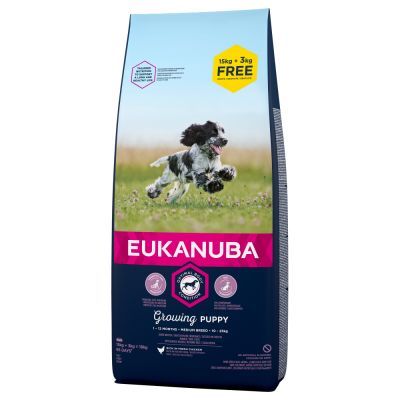 Eukanuba Growing Puppy Medium Breed csirke