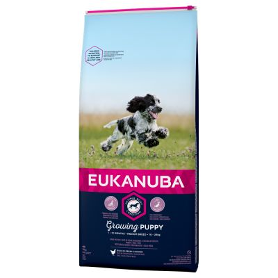 Eukanuba Growing Puppy Medium Breed Kylling
