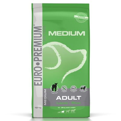 Euro Premium Medium Adult ,agneau &  riz