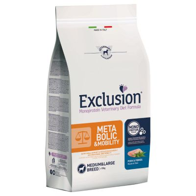 Exclusion Diet Metabolic & Mobility Maiale e Fibre Medium/Large