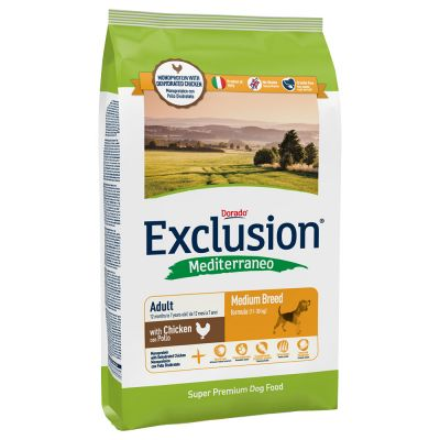 Exclusion Mediterraneo Adult Medium Pollo