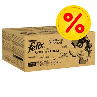 Felix As Good As It Looks Mega Pack 120 X 100g At Bitiba Co Uk