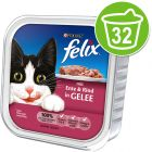 Felix Chunks in Jelly 32 x 100g