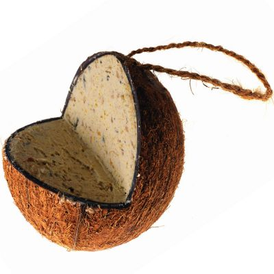 Filled Coconut Shell with Fat Mix