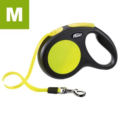 flexi Neon Reflect Dog Lead - Medium 5m