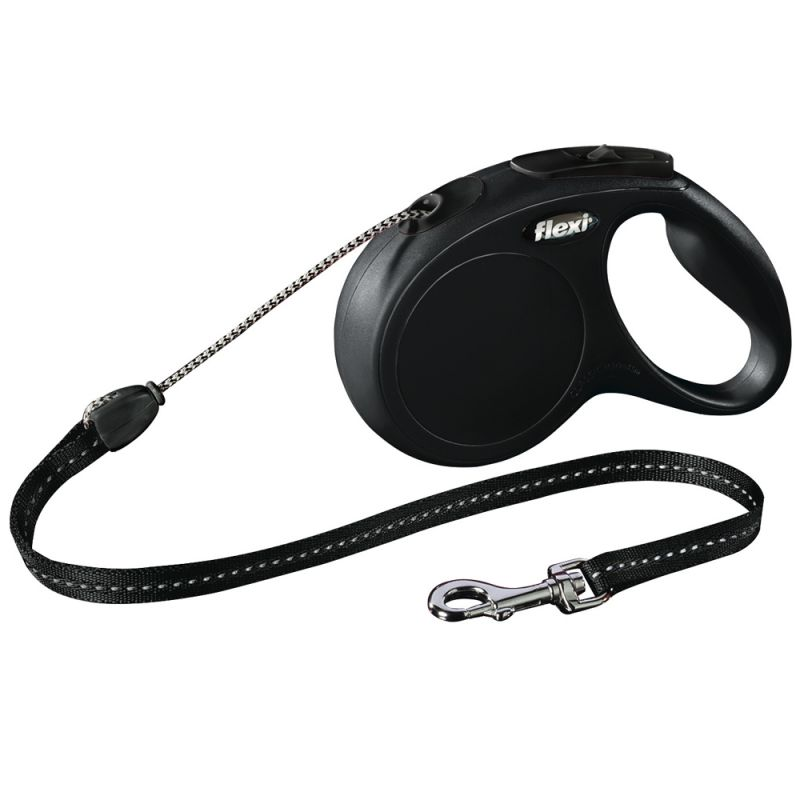 flexi New Classic Cord Lead Small - Black 5m