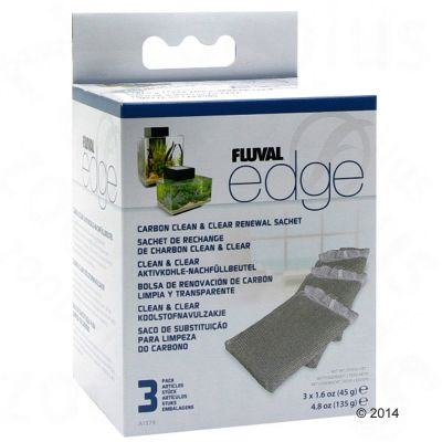Fluval Edge Carbon Clean and Clear 3 Sachets