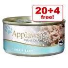 156g Applaws Wet Cat Food - 20 + 4 Free!*