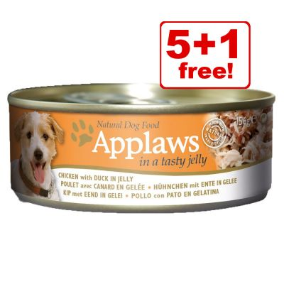 156g Applaws Wet Dog Food Cans - 5 + 1 Free!*