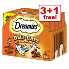 25g Dreamies Deli-Catz Cat Treats - 3 + 1 Free!*
