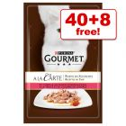 85g Gourmet A La Carte Wet Cat Food - 40 + 8 Free!*