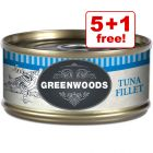 70g Greenwoods Adult Wet Cat Food - 5 + 1 Free!*