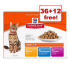 85g Hill's Science Plan Feline Pouches - 36 + 12 Free!*