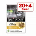 85g Purina Pro Plan Nutrisavour Wet Cat Food - 20 + 4 Free!*