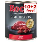 800g Rocco Real Hearts Wet Dog Food - 10 + 2 Free!*