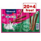 6g Vitakraft Mini Cat Sticks - 20 + 4 Free!*