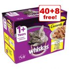85g Whiskas Casserole Selection Pouches - 40 + 8 Free!*