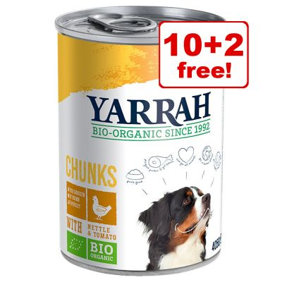820g Yarrah Organic Wet Dog Food - 10 + 2 Free!*