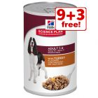 363g/370g Hill's Science Plan Wet Dog Food - 9 + 3 Free!*