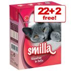 370g/380g Smilla Chunks Wet Cat Food - 22 + 2 Free!*