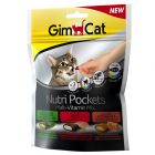 GimCat Nutri Pockets snacks para gatos Malta Vitaminas Mix