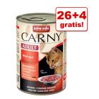 26 + 4 gratis! Animonda Carny Adult, 30 x 400 g