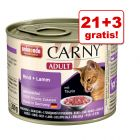 21 + 3 gratis! Animonda Carny Adult, 24 x 200 g