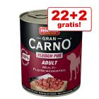 22+2 gratis! Animonda GranCarno Original Adult 24 x 800 g
