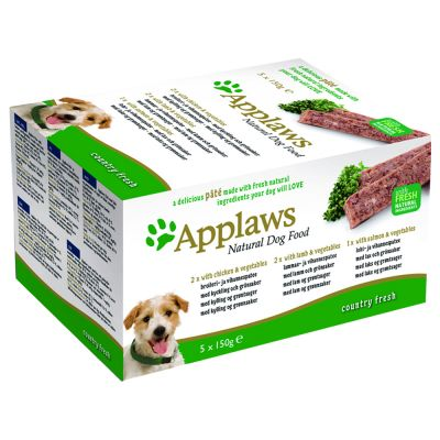 24 + 6 Gratis! Applaws Dog Paté, 30 x 150 g