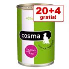 20 + 4 gratis! Cosma Original und Cosma Thai in Jelly 24 x 400 g