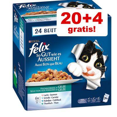 8db36e7fe45 20 + 4 gratis! Felix Elke Dag Feest   Zooplus.nl