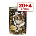 20 + 4 gratis! O´Canis for Cats 24 x 400 g