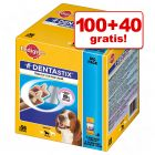100 + 40 gratis! 140 stuks Pedigree Dentastix / Dentastix Fresh