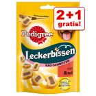 2 + 1 gratis! 3 stuks Pedigree Tasty Mini's