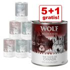 5 + 1 gratis! 6 x 400/ 800 g Wolf of Wilderness