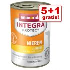 5 + 1 gratis! 6 x 400 g Animonda Integra Nassfutter
