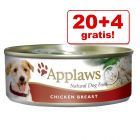 20 + 4 gratis! 24 x 156 g Applaws in Brühe & Jelly