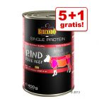 5 + 1 gratis! 6 x 400 g Belcando Single Protein