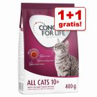 1 + 1 gratis! 2 x 400 g Concept for Life All Cats 10+