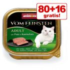 80 + 16 gratis! 96 x 100 g Jubiläumsedition Animonda vom Feinsten Mix