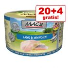20 + 4 gratis! 24 x 200 g MAC´s Cat