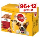 96 + 12 gratis! 108 x 100 g Pedigree Vital Protection