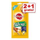 2 + 1 gratis! 3 x 40 g Pedigree Wrap