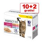 10 + 2 gratis! 12 x 85 g Perfect Fit Mixpack