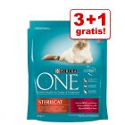 3 + 1 gratis! 4 x 800 g Purina ONE