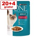 20 + 4 gratis! 24 x 85 g Purina One Adult