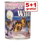 5 + 1 gratis! 6 x 390 g Taste of the Wild våtmat